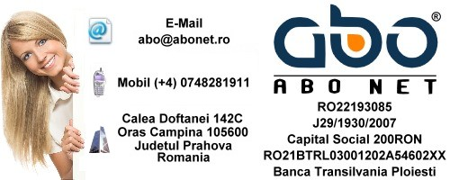 Informatii contact ABO NET Web domeniu inregistrare domeniu domeniu .info
